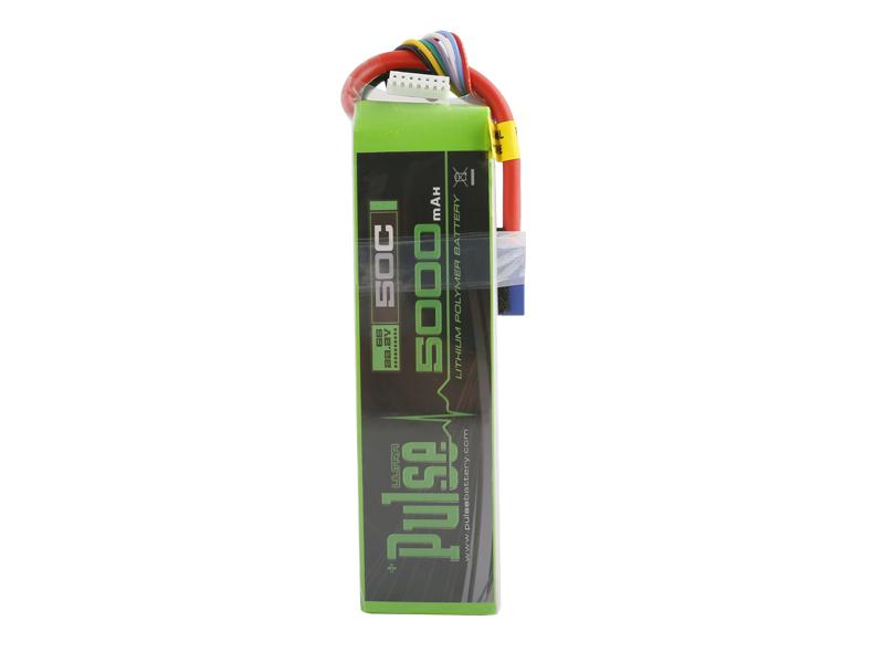 PULSE 5000mah 50C 22.2V 6S LiPo Battery - EC5 Connector