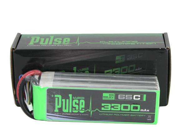 PULSE 3300mAh 6S 22.2V 65C LiPo Battery - No Plug