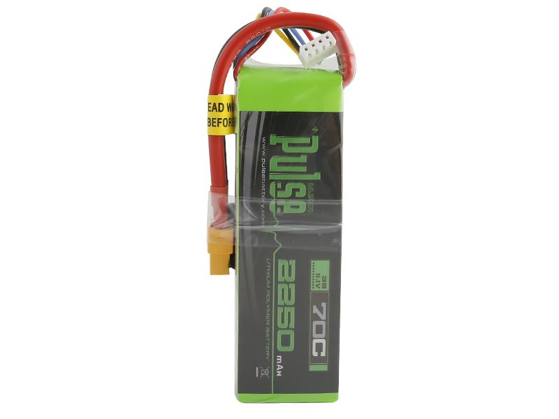 PULSE 2250mAh 3S 11.1V 70C LiPo Battery - XT60 Connector