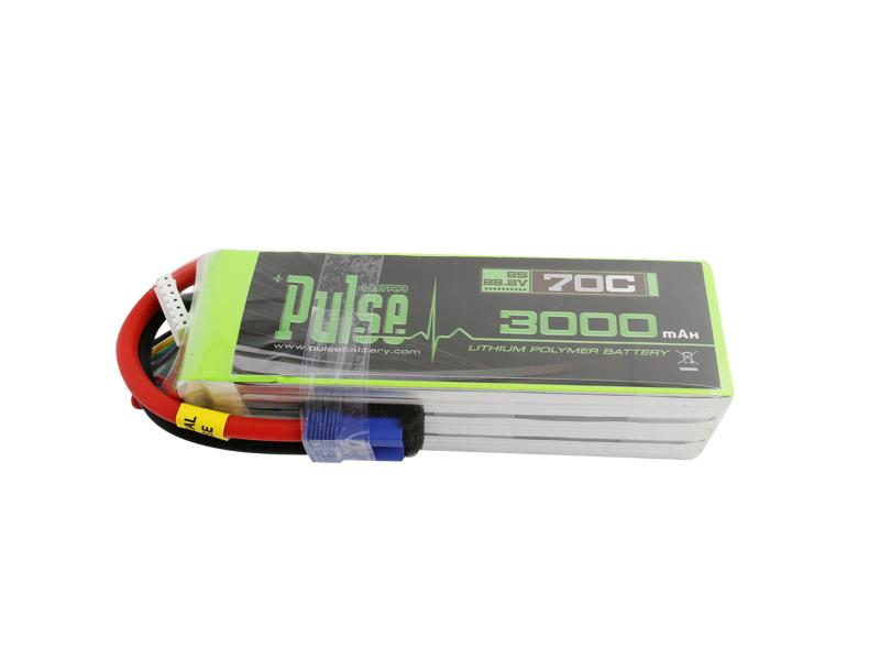 PULSE 3000mah 70C 22.2V 6S LiPo Battery - EC5 Connector