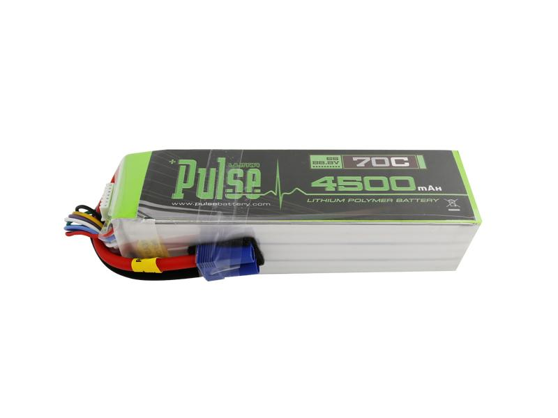 PULSE 4500mAh 6S 22.2V 70C LiPo Battery - EC5 Plug