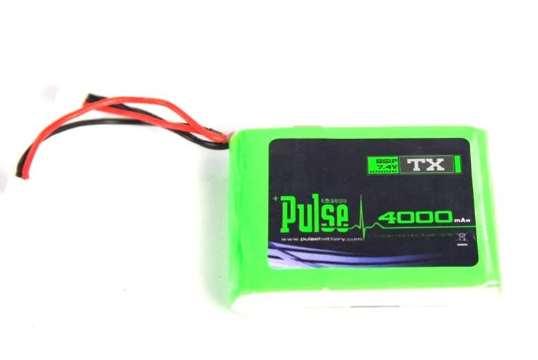 PULSE LIPO 4000mAh 2S 7.4V LiPo Battery - (For DX7S/DX8/DX9 TX)