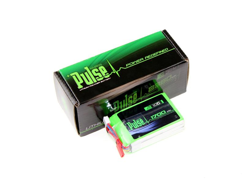 PULSE 1700mAh 10C 11.1V 3S LiPo Battery - JST/SYP Connector