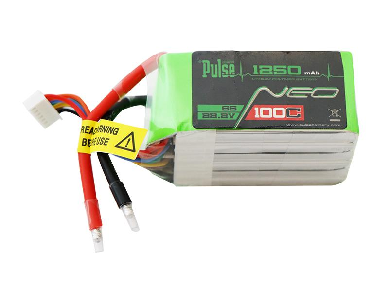 PULSE NEO 1250mAh 100C 22.2V 6S LiPo Battery - XT60 Connector