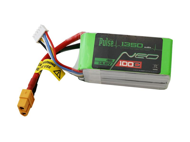 PULSE NEO 1350mAh 4S 14.8V 100C LiPo Battery - XT60 Plug