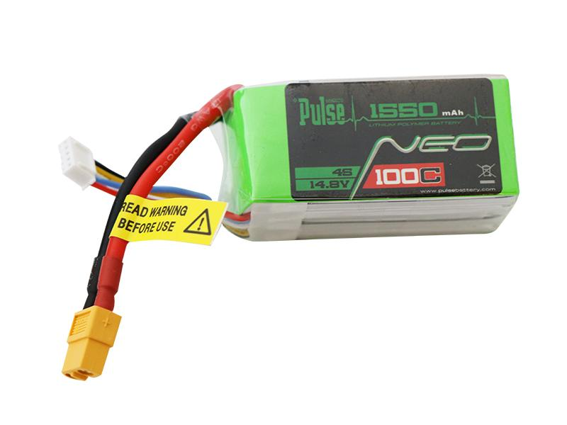 PULSE NEO 1550mAh 100C 14.8V 4S LiPo Battery - XT60 Connector