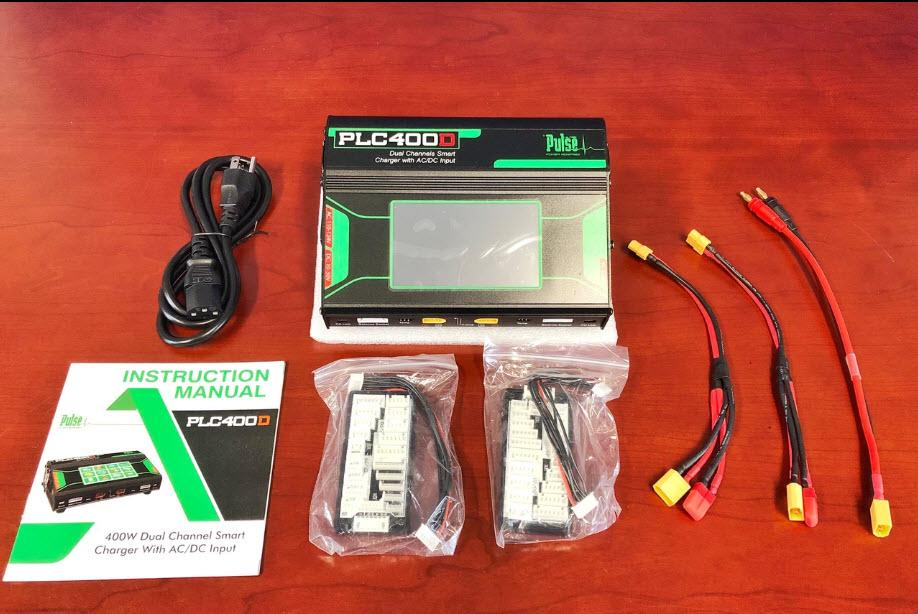 Pulse Ultra PLC400D AC/DC Multi-Chemistry Smart Battery Charger (USA Type AC Power Cord)