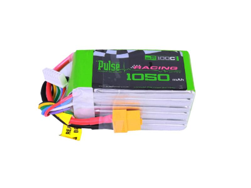 PULSE 1050mAh 100C 22.2V 6S LiPo Battery - XT60 Connector
