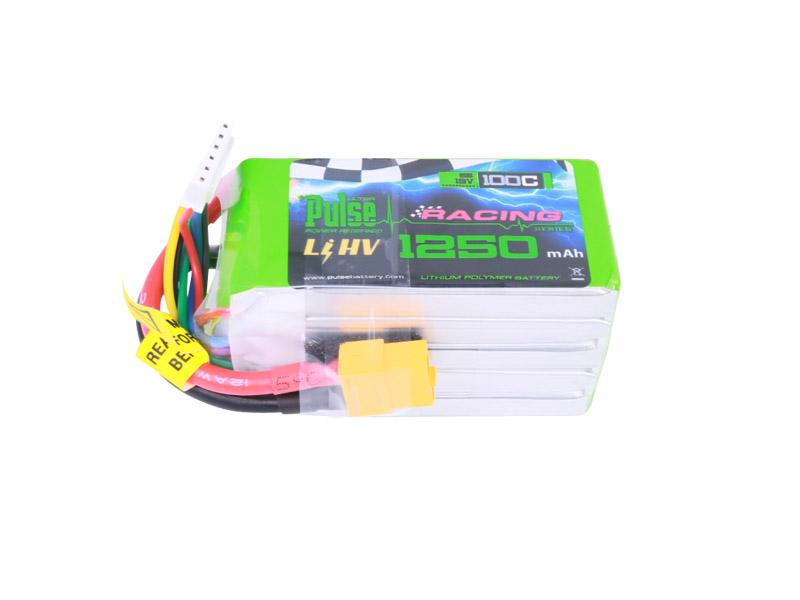PULSE 1250mAh 100C LiHV 19V 5S Lipo Battery - XT60 Connector