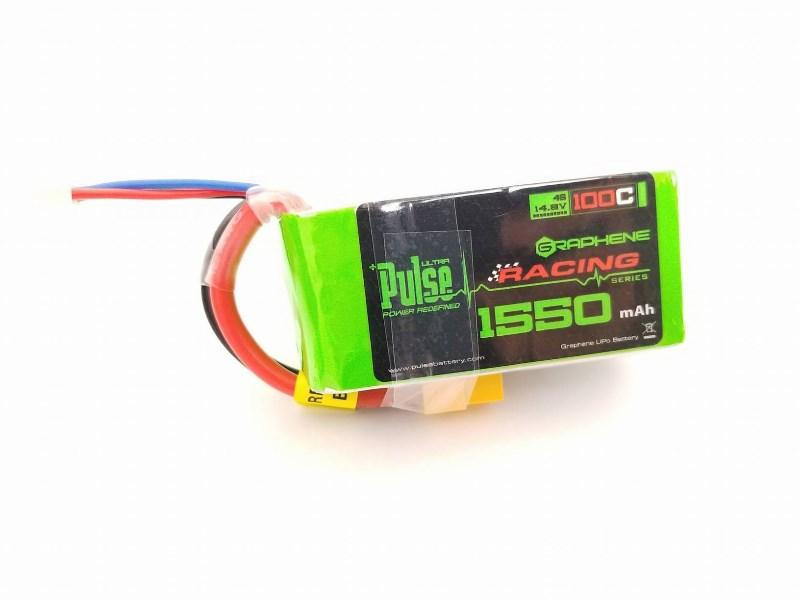PULSE 1550mAh 100C Graphene 14.8V 4S Lipo Battery - XT60 Connector