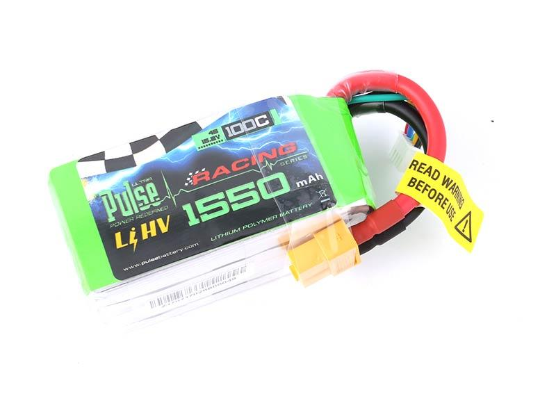 PULSE 1550mAh 100C LiHV 15.2V 4S Lipo Battery - XT60 Connector