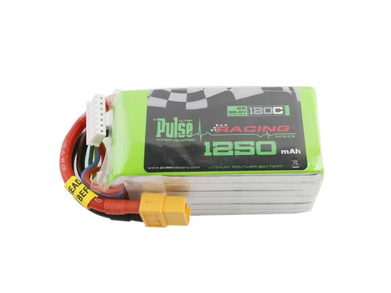 PULSE 1250mAh 120C 22.2V 6S LiPo Battery - XT60 Connector