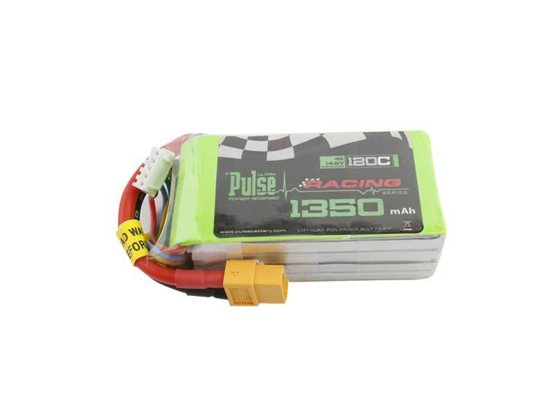 PULSE 1350mAh 120C 14.8V 4S LiPo Battery - XT60 Connector