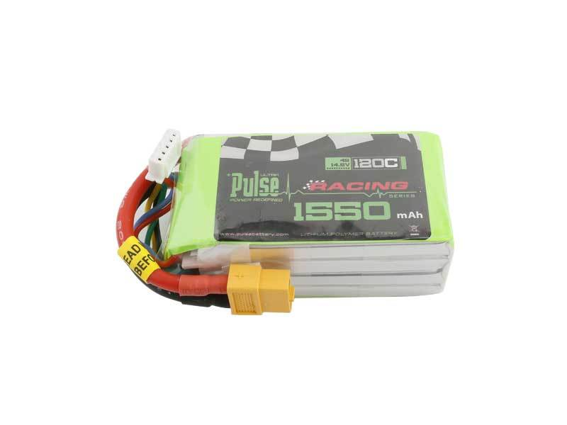 PULSE 1550mAh 4S 14.8V 120C LiPo Battery - XT60 Plug