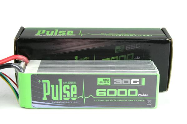 PULSE 6000mAh 30C 18.5V 5S LiPo Battery - No Connector