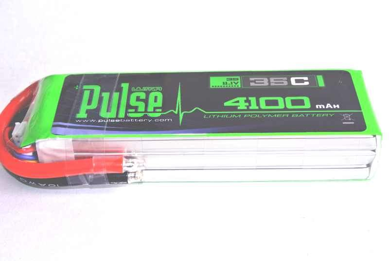 PULSE 4100mah 35C 11.1V 3S LiPo Battery - No Connector