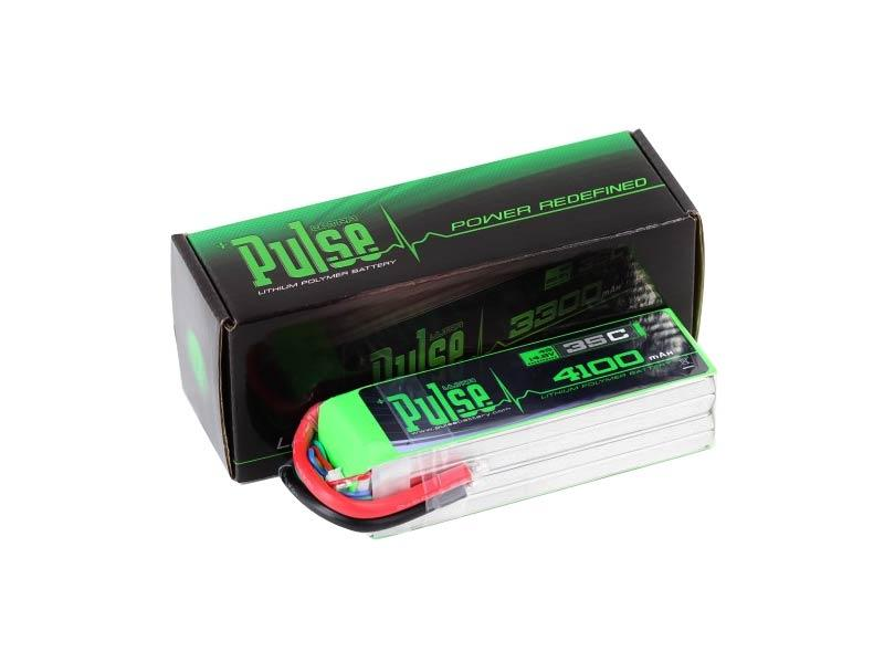 PULSE 4100mah 35C 14.8V 4S LiPo Battery - No Connector