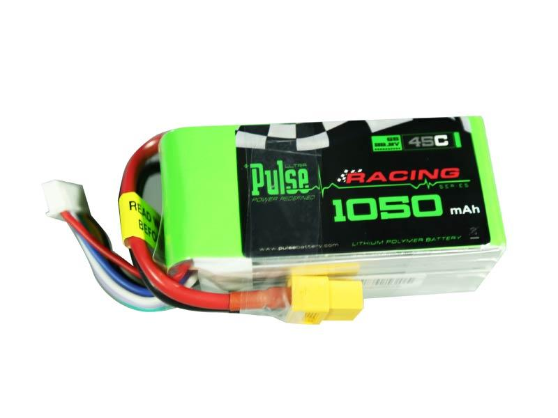 PULSE 1050mah 6S 22.2V 45C - LiPo Battery for SAB Goblin 280 and FPV Racing Quads