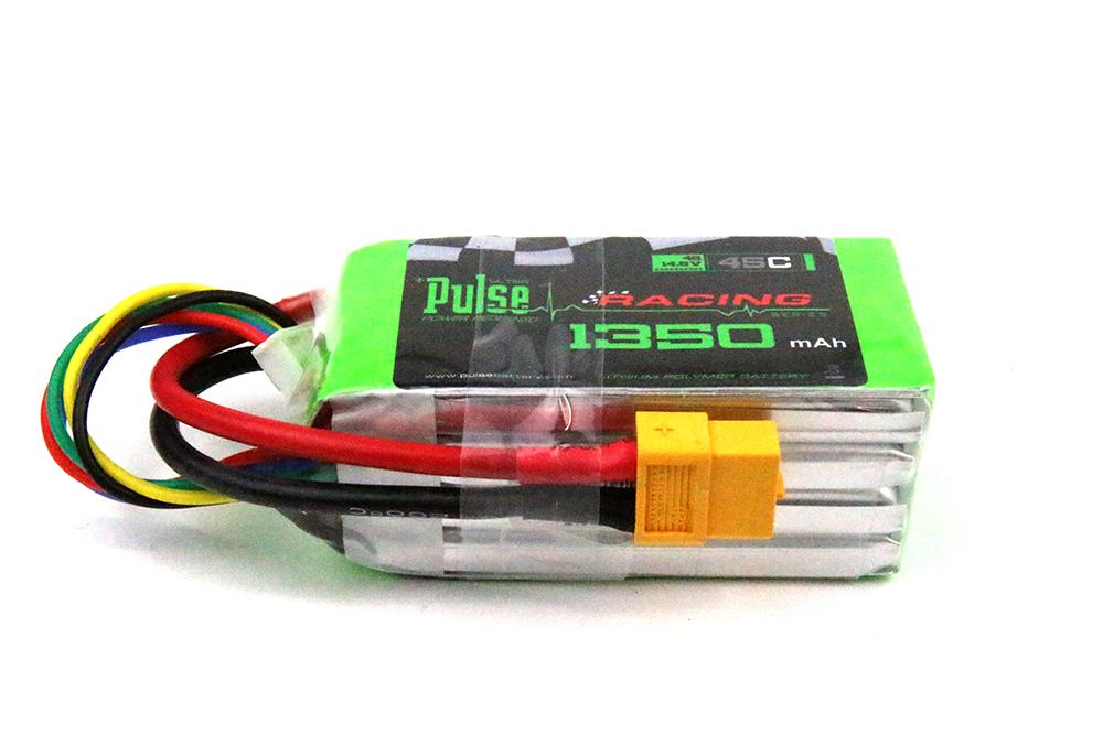 PULSE 1350mAh 45C 14.8V 4S LiPo Battery - XT60 Connector