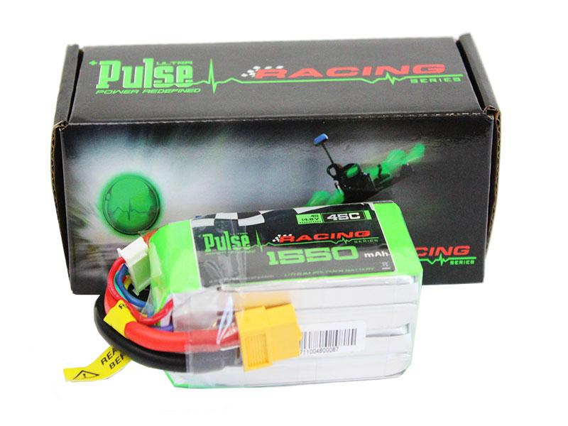 PULSE 1550mAh 45C 14.8V 4S LiPo Battery - XT60 Connector
