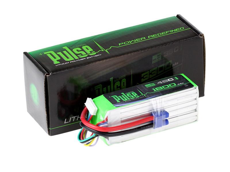 PULSE 1800mAh 6S 22.2V 45C - LiPo Battery