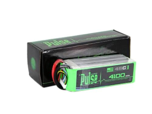PULSE 4100mAh 6S 22.2V 45C LiPo Battery - No Plug