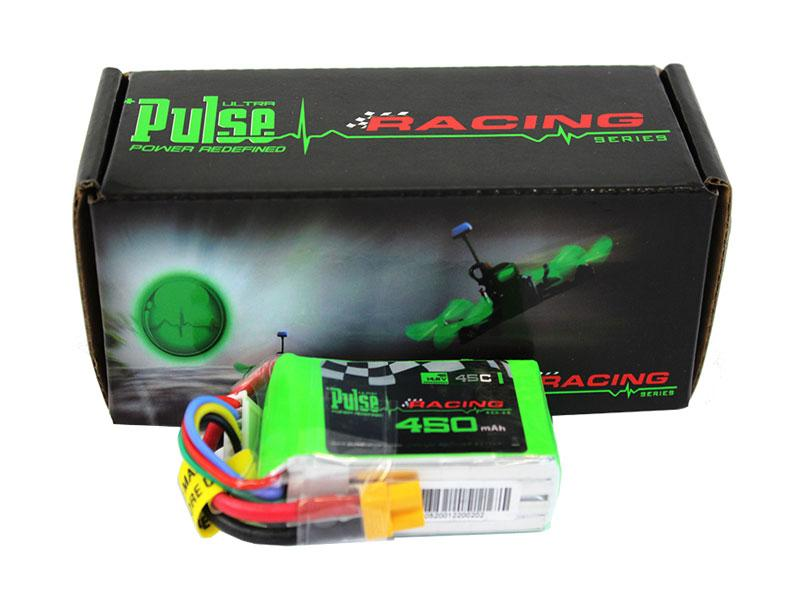 PULSE 450mAh 45C 14.8V 4S LiPo Battery - XT30 Connector