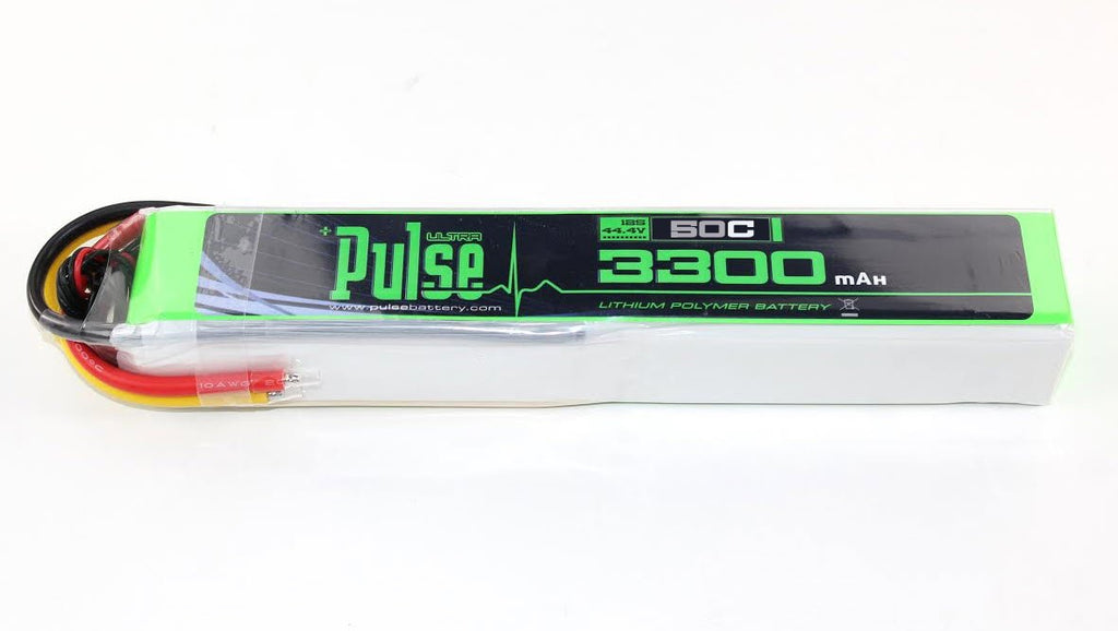 PULSE 3300mAh 50C 44.4V 12S LiPo Battery - No Connector