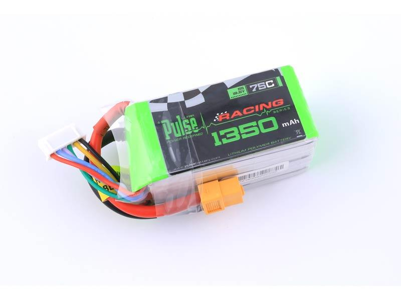 PULSE 1350mah 5S 18.5V 75C - FPV Racing Series - LiPo Battery