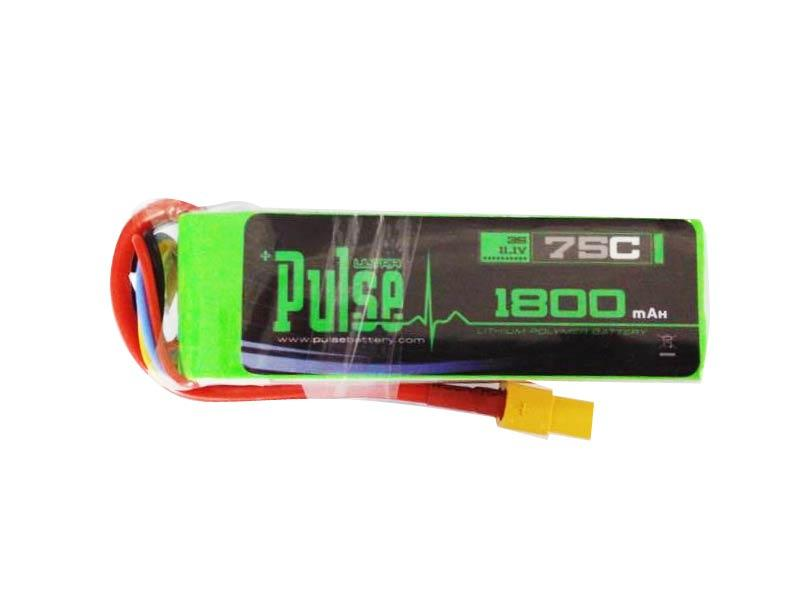 PULSE 1800mah 3S 11.1V 75C - FPV Racing Series - LiPo Battery