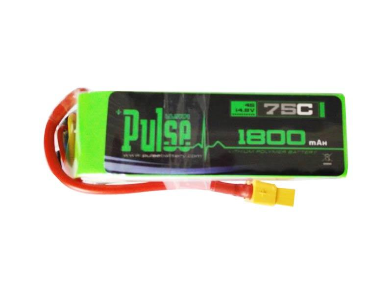 PULSE 1800mah 4S 14.8V 75C LiPo Battery - XT60 Plug