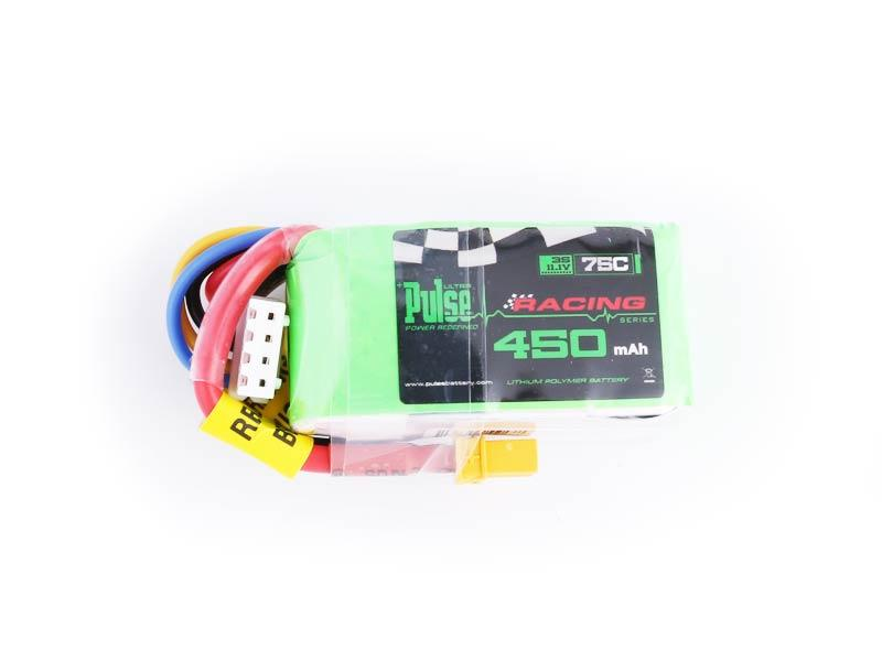 PULSE 450mAh 3S 11.1V 75C - FPV Racing series - LiPo Battery