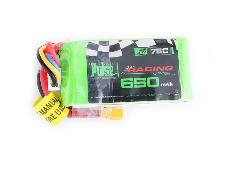 PULSE 650mAh 75C 11.1V 3S LiPo Battery - XT30 Connector