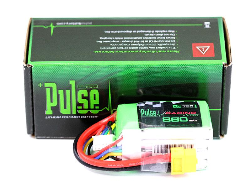 PULSE 860mAh 75C 14.8V 4S LiPo Battery - XT60 Connector