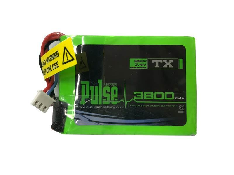 Pulse 3800mAh Transmitter 7.4V 2S Lipo Battery for FrSky QX7