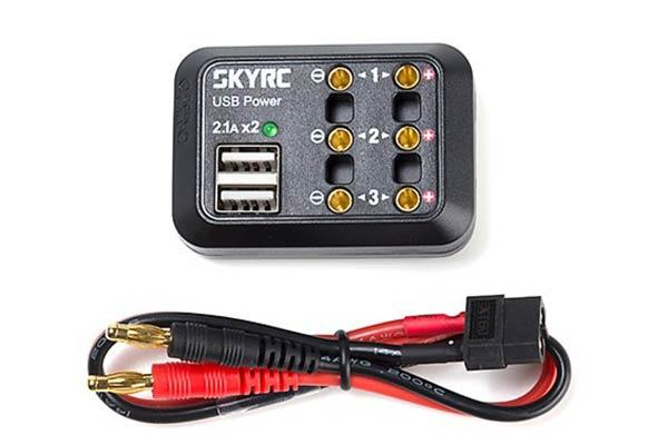 SkyRC 10A DC Power Distributor USB Output 5V with XT60/ Banana Plug