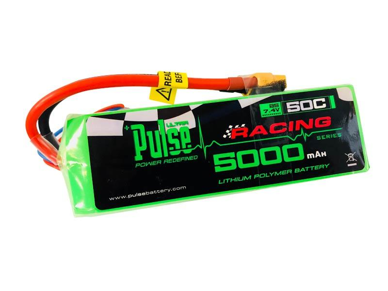PULSE 5000mah 50C Soft Case 7.4V 2S LiPo Battery - XT60 Connector