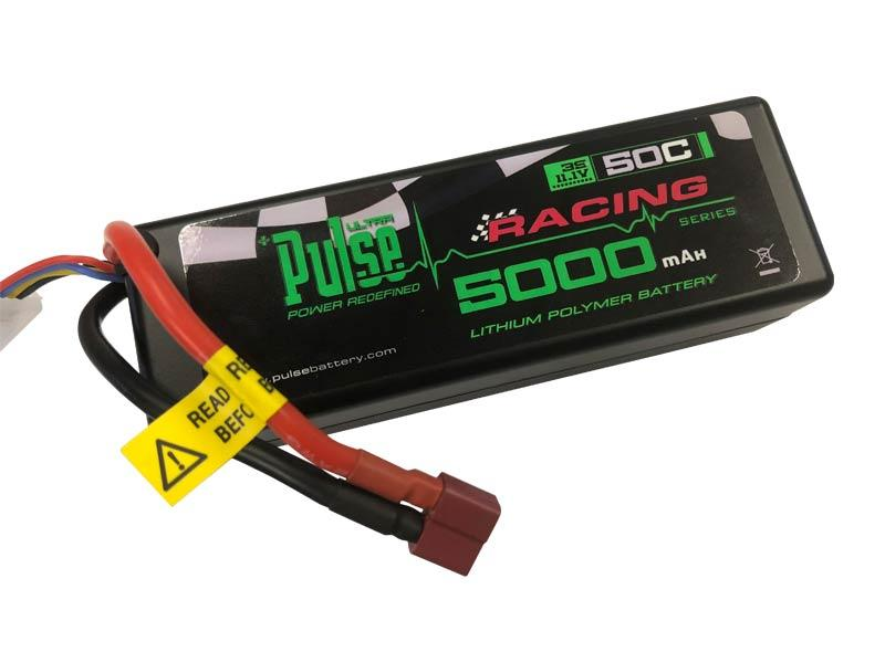 PULSE 5000mah 50C Hardcase 7.4V 2S LiPo Battery - Deans Connector