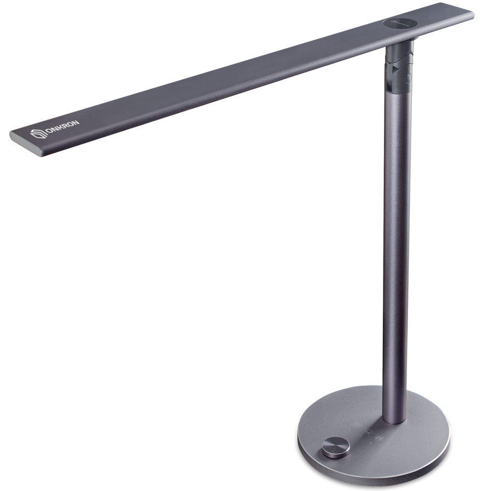 ONKRON Lámpara LED de escritorio Eye Caring Lámpara de Mesa Regulable con 3 Niveles de Iluminación Dual Light D5A (Pearl BlackBerry)