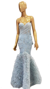 Ice Blue Mermaid Dress