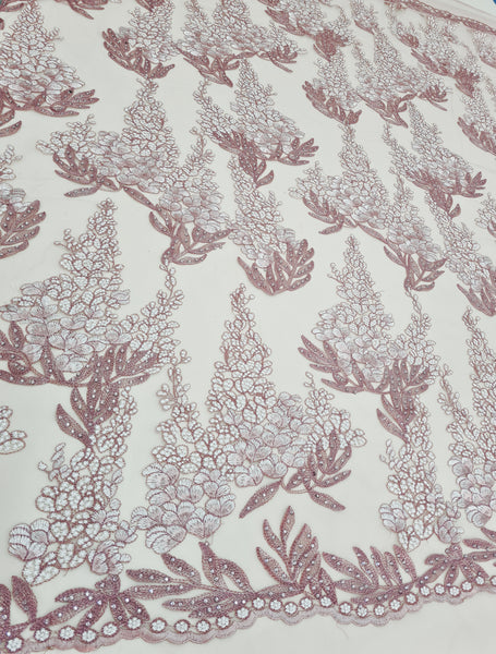 Dusty Pink embroidery lace