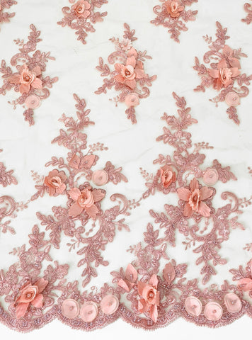 Dusty Pink 3D Lace