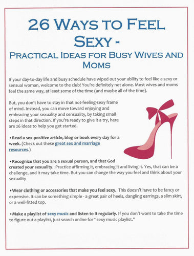 26 Ways to Feel Sexy - Practical Ideas for Busy Wives and Moms