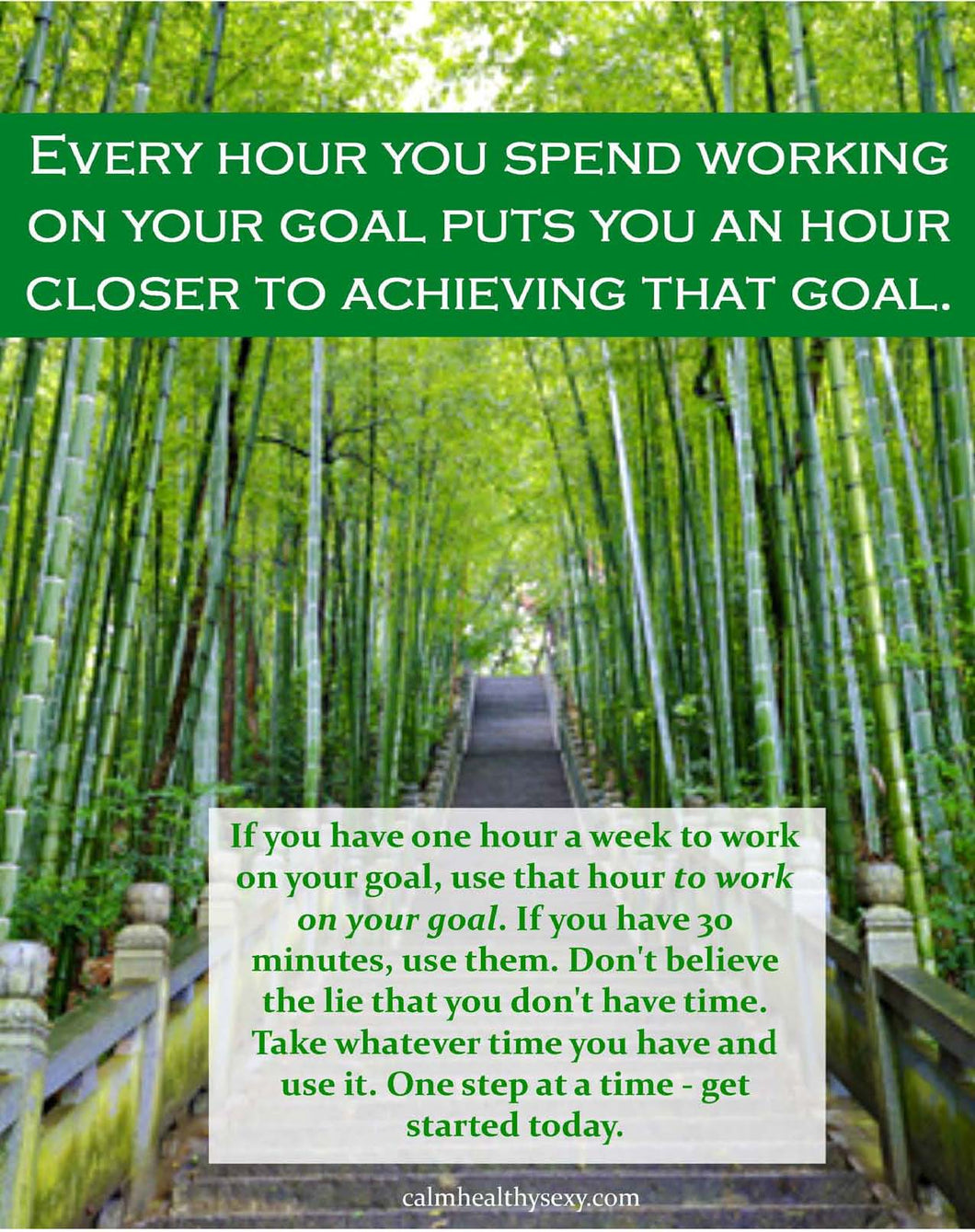 One Hour Closer to Achieving Your Goal