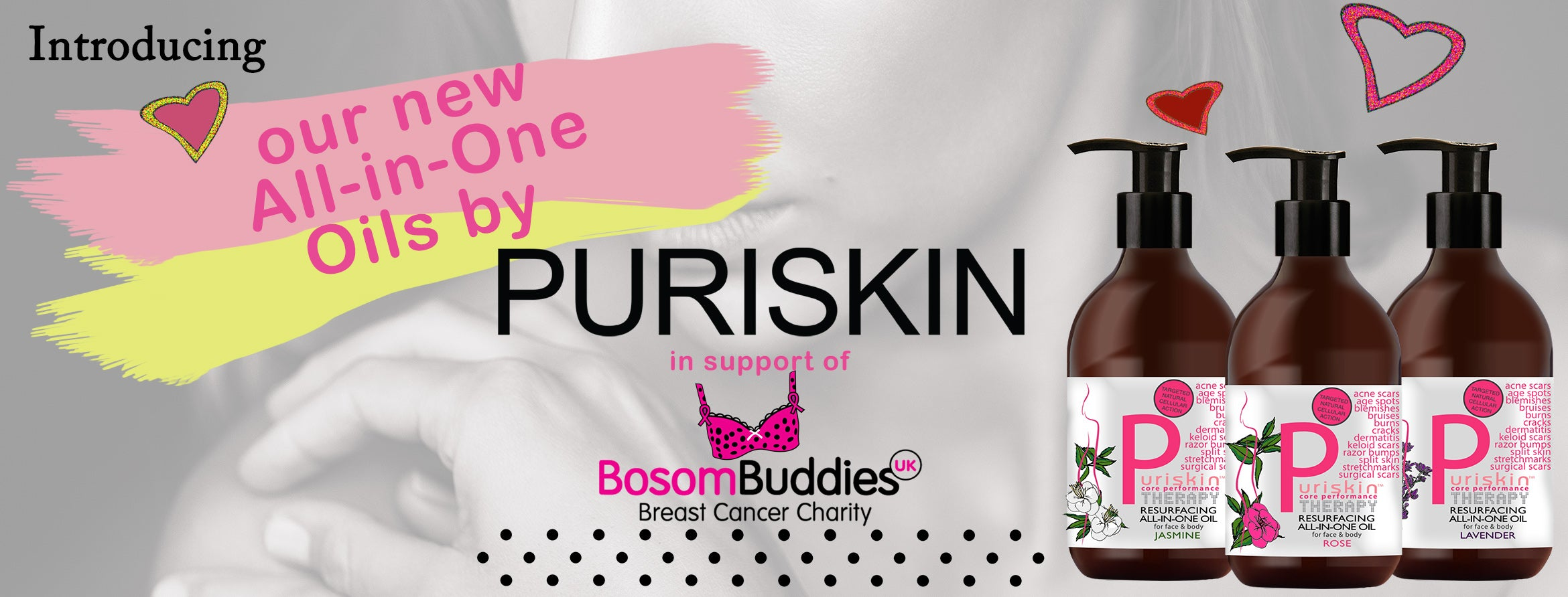 Skincare For Cancer - Puriskin in support of Bosombuddiesuk