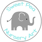 Sweet Pea Nursery Art Logo