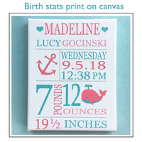 Frog and Turtle Birth Stats Print | Custom Baby Gift | Personalized Baby Print | Baby Boy Gift