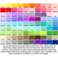 sweet pea nursery art color chart