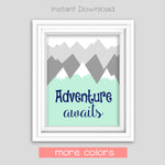 printable adventure nursery decor