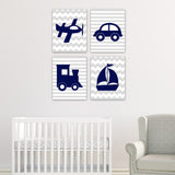 canvas wall art for baby boy transportation nursery